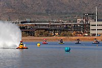 Nov. 22, 2008; Chandler, AZ, USA; IHBA top alcohol hydro driver Troy Ferry races during qualifying for the Napa Auto Parts World Finals at Firebird Lake. Mandatory Credit: Mark J. Rebilas-