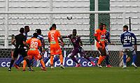 MANIZALES - COLOMBIA, 16-01-2021:Millonarios  y Envigado F.C. en partido por la fecha 1 de la Liga BetPlay DIMAYOR 2021 jugado en el estadio Palogrande de la ciudad de Manizales. /Millonarios  and Envigado F.C. in match for the date 1 as part of BetPlay DIMAYOR League 2021 played at Palogrande stadium in Manizales city.  Photo: VizzorImage / John Jairo Bonilla / Contribuidor