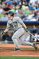 Dayton Dragons first baseman Daniel Pigott (30) at bat during a game against the Lake County Captains on June 7, 2014 at Classic Park in Eastlake, Ohio.  Lake County defeated Dayton 4-3.  (Mike Janes/Four Seam Images)