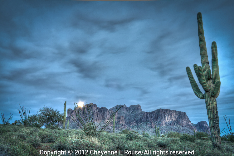 Moon rise at Lost Dutchman State Park - Arizona