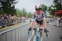 Andy Schleck (LUX) warming up<br /> <br /> Tour de France 2013<br /> stage 17: ITT Embrun - Chorges 32km