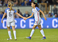 San Jose, CA - November 10, 2016: The U.S. Women's National team go up 5-1 over Romania with Christen Press contributing three goals during an international friendly game at Avaya Stadium.