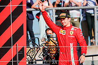 podium LECLERC Charles (mco), Scuderia Ferrari SF21, portrait during the Formula 1 Pirelli British Grand Prix 2021, 10th round of the 2021 FIA Formula One World Championship from July 16 to 18, 2021 on the Silverstone Circuit, in Silverstone, United Kingdom - <br /> Formula 1 GP Great Britain Silverstone 18/07/2021<br /> Photo DPPI/Panoramic/Insidefoto <br /> ITALY ONLY