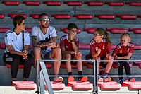 Standard supporters pictured before a women soccer match between Standard Femina de Liege and Eendracht Aalst dames, Saturday 25 September 2021 in Liege, in the 1/16 th final of the Belgian Womens Cup 2021-2022. PHOTO BERNARD GILLET