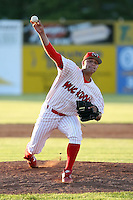 June 21st, 2007:  Wayne Daman of the Batavia Muckdogs, Short-Season Class-A affiliate of the St. Louis Cardinals at Dwyer Stadium in Batavia, NY.  Photo by:  Mike Janes/Four Seam Images
