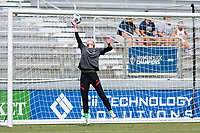 CARY, NC - SEPTEMBER 12: Bella Bixby #31 of the Portland Thorns warms up before a game between Portland Thorns FC and North Carolina Courage at WakeMed Soccer Park on September 12, 2021 in Cary, North Carolina.