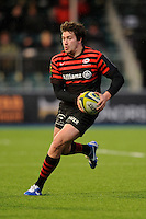 20130127 Copyright onEdition 2013©.Free for editorial use image, please credit: onEdition..Adam Powell of Saracens during the LV= Cup match between Saracens and Cardiff Blues at Allianz Park on Sunday 27th January 2013 (Photo by Rob Munro)..For press contacts contact: Sam Feasey at brandRapport on M: +44 (0)7717 757114 E: SFeasey@brand-rapport.com..If you require a higher resolution image or you have any other onEdition photographic enquiries, please contact onEdition on 0845 900 2 900 or email info@onEdition.com.This image is copyright onEdition 2013©..This image has been supplied by onEdition and must be credited onEdition. The author is asserting his full Moral rights in relation to the publication of this image. Rights for onward transmission of any image or file is not granted or implied. Changing or deleting Copyright information is illegal as specified in the Copyright, Design and Patents Act 1988. If you are in any way unsure of your right to publish this image please contact onEdition on 0845 900 2 900 or email info@onEdition.com