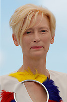 """CANNES, FRANCE - JULY 16: British actress Tilda Swinton at photocall for the film """"Memoria"""" at the 74th annual Cannes Film Festival in Cannes, France on July 16, 2021  <br /> CAP/GOL<br /> ©GOL/Capital Pictures"""