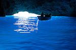 Greece, Dodecanese, Kastellorizo: Greek island in the Eastern Mediterranean Sea, region South Aegean, Blue cave (Galazio Spileo) | Griechenland, Dodekanes, Kastelorizo: griechische Insel im oestlichen Mittelmeer, Region suedliche Aegaeis, blaue Grotte