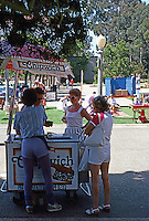 San Diego: Balboa Park Ice Cream Vendor.  (Photo 1984)