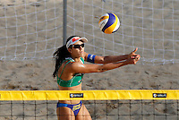 Brazil's Talita Antunes in action at the Beach Volleyball World Tour Grand Slam, Foro Italico, Rome, 21 June 2013.<br /> UPDATE IMAGES PRESS/Isabella Bonotto