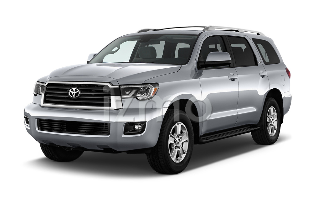 2018 Toyota Sequoia SR5 Auto 5 Door SUV angular front stock photos of front three quarter view
