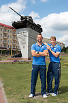 St Johnstone v FC Minsk...31.07.13<br /> Alan Mannus and David Wotherspoon in Grodno in Belarus where saints will play FC Minsk tomorrow night.<br /> Picture by Graeme Hart.<br /> Copyright Perthshire Picture Agency<br /> Tel: 01738 623350  Mobile: 07990 594431