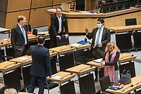 """Plenarsitzung des Berliner Abgeordnetenhaus am Donnerstag den 30. April 2020.<br /> Im Bild vlnr.: Carsten Ubbelohde; Tommy Tabor (von hinten); Franz Kerker; Marc Vallendar (mit Maske); Kristin Brinker, Abgeordnete der sog. """"Alternative fuer Deutschland"""".<br /> 30.4.2020, Berlin<br /> Copyright: Christian-Ditsch.de<br /> [NUR FUER REDAKTIONELLE ZWECKE! Werbung nur auf Anfrage beim Fotografen. Inhaltsveraendernde Manipulation des Fotos nur nach ausdruecklicher Genehmigung des Fotografen. Vereinbarungen ueber Abtretung von Persoenlichkeitsrechten/Model Release der abgebildeten Person/Personen liegen nicht vor. NO MODEL RELEASE! Don't publish without copyright Christian-Ditsch.de, Veroeffentlichung nur mit Fotografennennung, sowie gegen Honorar, MwSt. und Beleg. Konto: I N G - D i B a, IBAN DE58500105175400192269, BIC INGDDEFFXXX, Kontakt: post@christian-ditsch.de<br /> Bei der Bearbeitung der Dateiinformationen darf die Urheberkennzeichnung in den EXIF- und  IPTC-Daten nicht entfernt werden, diese sind in digitalen Medien nach §95c UrhG rechtlich geschuetzt. Der Urhebervermerk wird gemaess §13 UrhG verlangt.]"""