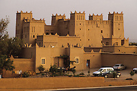 Near Skoura, Morocco - Hotel Ben Moro.  Old Kasbahs are being refurbished as hotels, inns, and pensions, to accomodate the growing tourist trade.