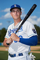 Burlington Royals first baseman Vinnie Pasquantino (33) poses for a photo prior to the game against the Danville Braves at Burlington Athletic Stadium on July 13, 2019 in Burlington, North Carolina. The Royals defeated the Braves 5-2. (Brian Westerholt/Four Seam Images)