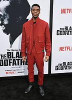 "03 June 2019 - Los Angeles, California - Chadwick Boseman. Netflix's ""The Black Godfather"" Los Angeles Premiere held at Paramount Theater. Photo Credit: Birdie Thompson/AdMedia"