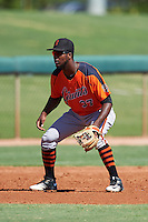 San Francisco Giants Kelvin Beltre (37) during an Instructional League game against the Chicago White Sox on October 10, 2016 at the Camelback Ranch Complex in Glendale, Arizona.  (Mike Janes/Four Seam Images)