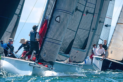 High density labour-intensive sailing……the 1720s racing the first day of their BNRG Easterns 2021 in Saturday's sunshine at Howth