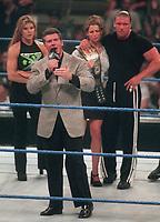 Sable Stephanie McMahon                                                  Triple H Vince McMahon  1999                         Photo by  John Barrett/PHOTOlink