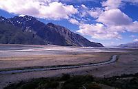 New Zealand,  December 1994  ..New Zealand Foot Mount Cook Lake Pukaki..Photo Kees Metselaar