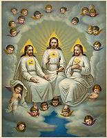 The Holy Trinity / Leiber popular chromolithograph / 19th century