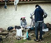 Winnieh, 35, aus Uganda, kam am 5.3.2020. Kam zusammen mit Henri, aus Togo, die beiden hatten sich in der Türkei in einem Gefängnis kennengelernt; Skala Sykamneas, Lesbos, Griechenland