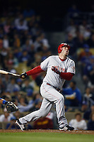 Adam Dunn of the Cincinnati Reds during a game against the Los Angeles Dodgers in a 2007 MLB season game at Dodger Stadium in Los Angeles, California. (Larry Goren/Four Seam Images)