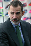King Felipe VI of Spain during the visit to the facilities of the Spanish sportswear company JOMA Sports. January 19, 2018. (ALTERPHOTOS/Acero)
