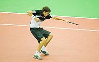 20-2-08, Netherlands, Rotterdam ABNAMROWTT 2008,  Robin Haase    schreewt het uit in zijn partij tegen Hewitt