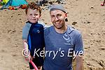 Enjoying the beach in Ballybunion on Sunday, l to r: Sheamie and Derek Loughran