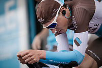 Oliver Naesen (BEL/AG2R La Mondiale) warming up for Stage 5 (ITT): Barbentane to Barbentane (25km)<br /> 77th Paris - Nice 2019 (2.UWT)<br /> <br /> ©kramon