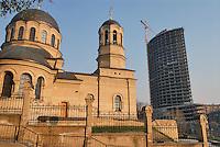 - orthodox church and skyscraper....- chiesa ortodossa e grattacielo