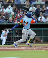 Lazaro Armenteros participates in the 2019 California League All-Star Game at San Manuel Stadium on June 18, 2019 in San Bernardino, California (Bill Mitchell)