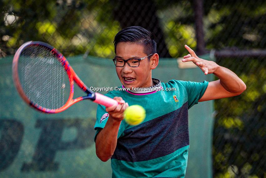 Hilversum, Netherlands, Juli 29, 2019, Tulip Tennis center, National Junior Tennis Championships 12 and 14 years, NJK, Jayden Tjong (NED)<br /> Photo: Tennisimages/Henk Koster