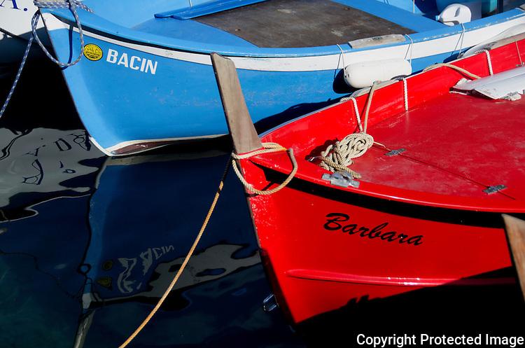 Italina riviera fishing boats