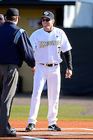 Central Florida Knights coach Ryan Klosterman #7 during a game against the Siena Saints at Jay Bergman Field on February 16, 2013 in Orlando, Florida.  Siena defeated UCF 7-4.  (Mike Janes/Four Seam Images)
