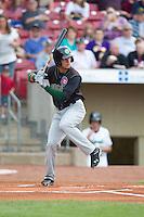 Kane County Cougars outfielder Albert Almora #2 bats during a game against the Cedar Rapids Kernels at Veterans Memorial Stadium on June 8, 2013 in Cedar Rapids, Iowa. (Brace Hemmelgarn/Four Seam Images)