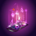 Illustrative image of mobile phone representing sports app