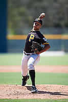 Pittsburgh Pirates pitcher Sergio Cubilete (77) during an Instructional League Intrasquad Black & Gold game on September 28, 2016 at Pirate City in Bradenton, Florida.  (Mike Janes/Four Seam Images)