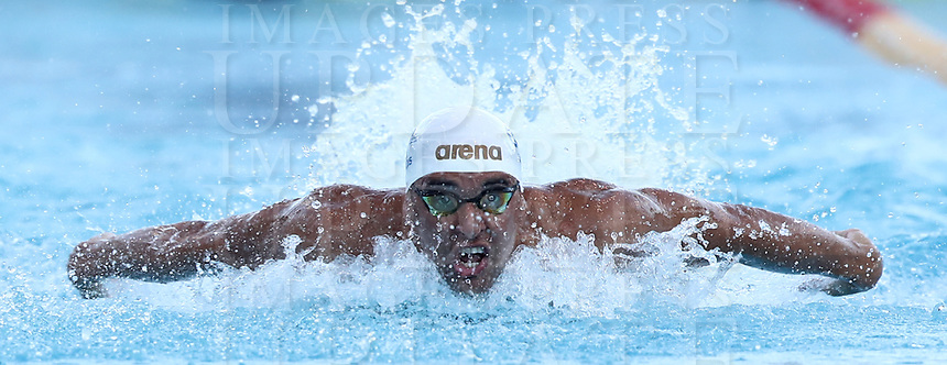 Nuoto 55 Settecolli trophy Foro Italico, Rome on June, 29 2018.<br /> Swimmer Chad Le Clos, of South Africa, competes in the men's 100 meters butterfly at the Settecolli swimming trophy in Rome, on 29 June, 2018.<br /> UPDATE IMAGES PRESS/Isabella Bonotto