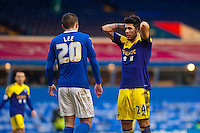 Saturday 25 January 2014<br /> Pictured: Alejandro Pozuelo ( r ) is dejected after missing a shot on goal <br /> Re: Birmingham City v Swansea City FA Cup fourth round match at St. Andrew's Birimingham
