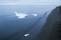 Icebergs along the coast of the Arctic Ocean, Utqiagvik (Barrow), Alaska