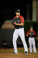 Erie SeaWolves pitcher Will Vest (8) during an Eastern League game against the Altoona Curve on June 3, 2019 at UPMC Park in Erie, Pennsylvania.  Altoona defeated Erie 9-8.  (Mike Janes/Four Seam Images)