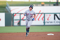 AFL East first baseman Peter Alonso (20), of the Scottsdale Scorpions and the New York Mets organization, rounds the bases after hitting a home run in the first inning during the Fall Stars game at Surprise Stadium on November 3, 2018 in Surprise, Arizona. The AFL West defeated the AFL East 7-6 . (Zachary Lucy/Four Seam Images)