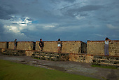 Old San Juan, Puerto Rico<br /> September 11, 2021<br /> <br /> Old San Juan at sunset. A 16th century citadel Castillo San Felipe del Morro built by the Spanish with tourists.