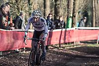 later women's elite race winner Sanne Cant (BEL/Beobank-Corendon) chasing the leaders.<br /> <br /> women's elite race<br /> Flandriencross Hamme / Belgium 2017