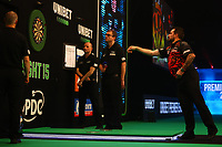 26th May 2021; Marshall Arena, Milton Keynes, Buckinghamshire, England; Professional Darts Corporation, Unibet Premier League Night 15 Milton Keynes; Jonny Clayton in action against Peter Wright