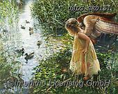 CHILDREN, KINDER, NIÑOS, paintings+++++,USLGSK0151,#K#, EVERYDAY ,Sandra Kock, victorian ,angels