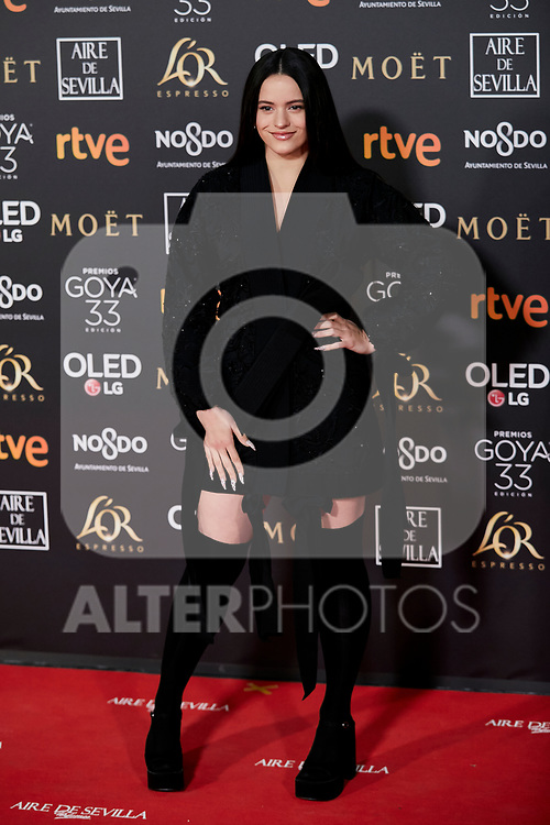 Rosalia attends to 33rd Goya Awards at Fibes - Conference and Exhibition  in Seville, Spain. February 02, 2019. (ALTERPHOTOS/A. Perez Meca)